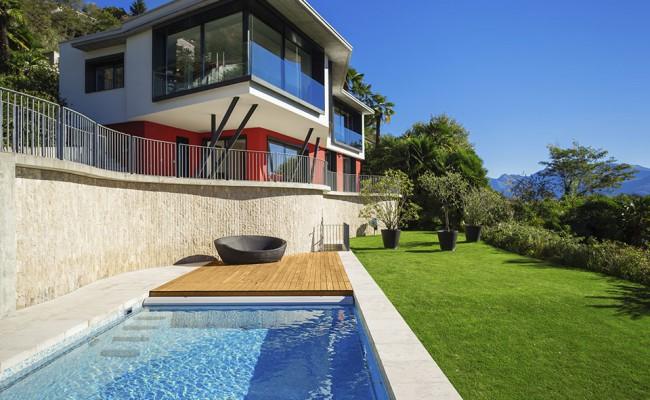 New architecture, beautiful modern house